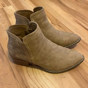 Madden Girl Neville Perforated Booties